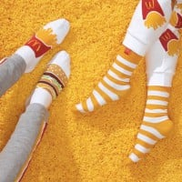 Get Your McDonalds Burger Socks Or Fries Pants With The McDonald's McDelivery Night In