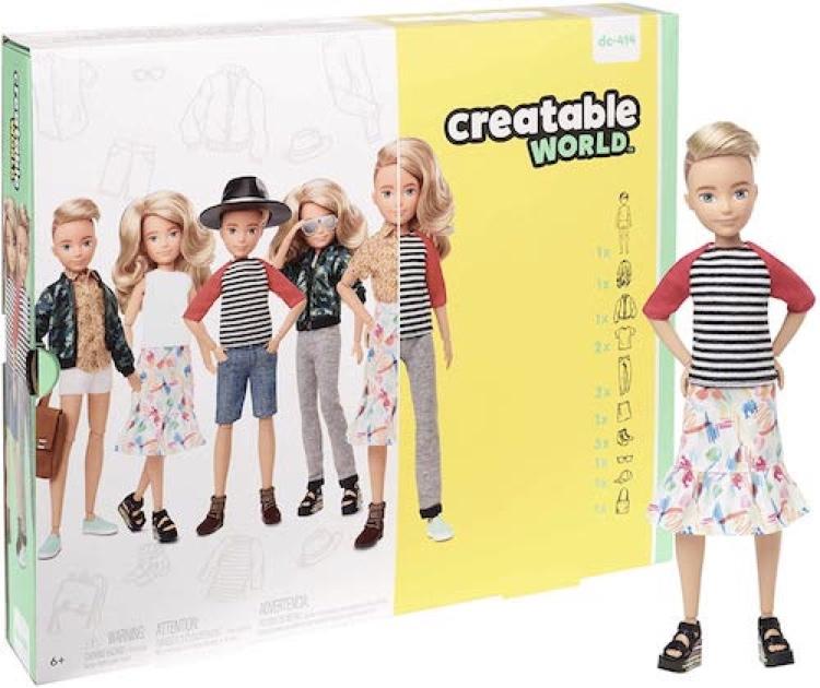 Creatable Toys Mattel gender neutral dolls