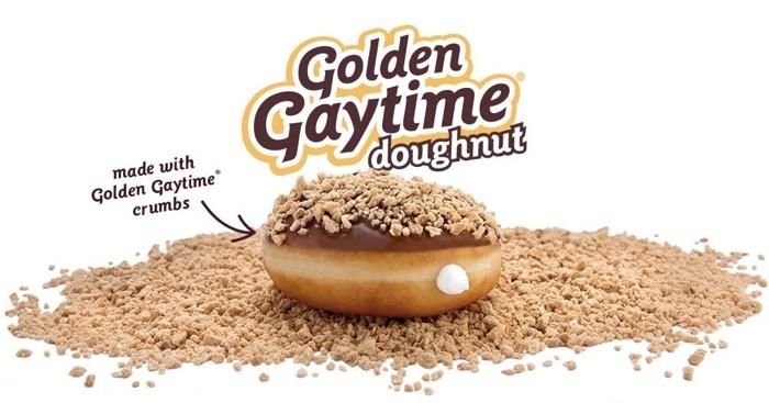 Krispy Kreme Golden Gaytime Doughnut