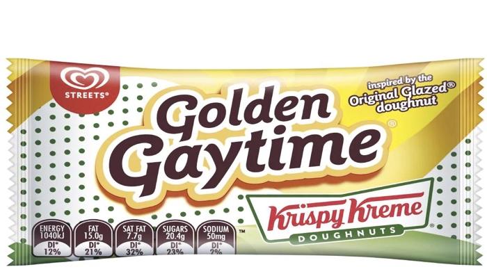 Krispy Kreme Golden Gaytime icecream