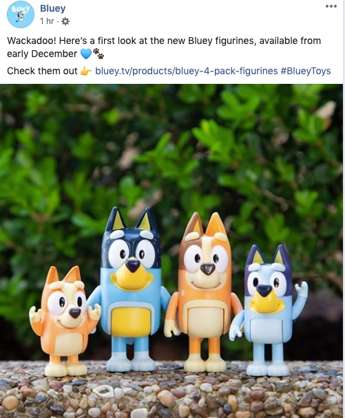 bluey-facebook-page showing figurines