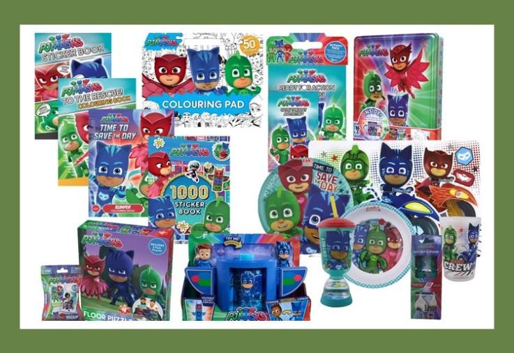 A huge prize pack full of PJ Masks toys