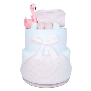 Pink nappy cake