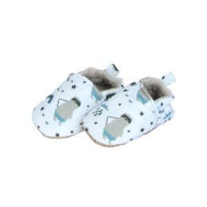 Baby shoes white with patterns on them