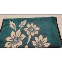 Bath towel into foot mat