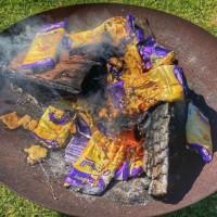 Huge Uproar As Man Burns '$16,000' Worth Of Caramilk Chocolate