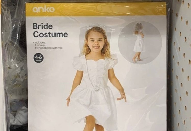 Kmart Withdraws Kids' Bridal Costume After Mum Makes A Fuss