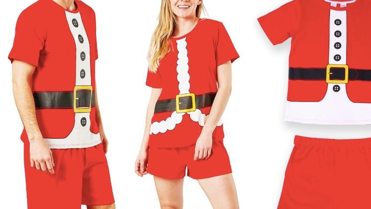 Big W Matching PJs santa