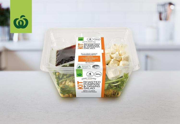 Woolworths Roasted Pumpkin and Grains Salad Kit