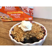 Mulberry & Apple Crumble