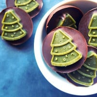 Christmas Mint and Tahini Chocolates