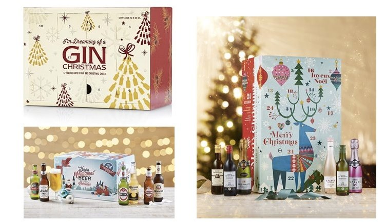 wine and gin advent calendars for Christmas