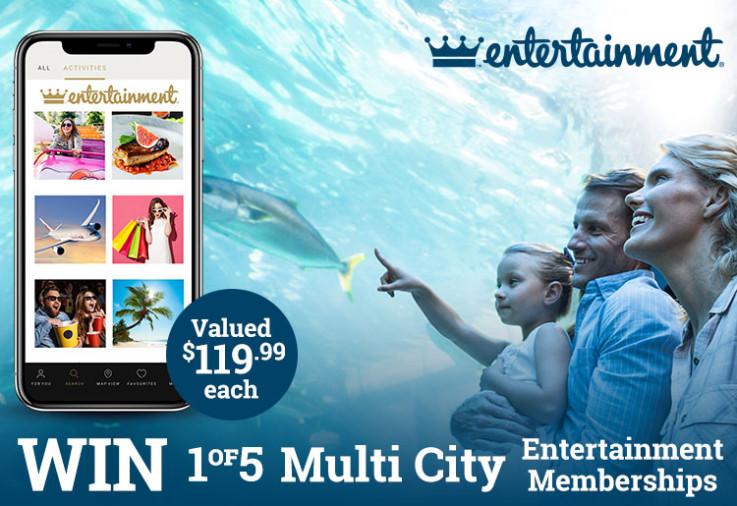 A father and daughter at aquarium. WIN 1 of 5 Multi City Digital Entertainment Memberships