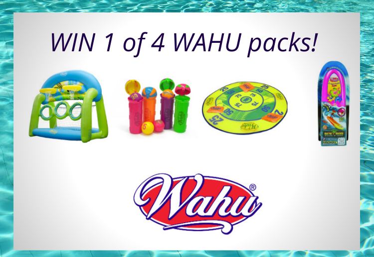 WIN 1 Of 4 WAHU Pool Toy Packs!
