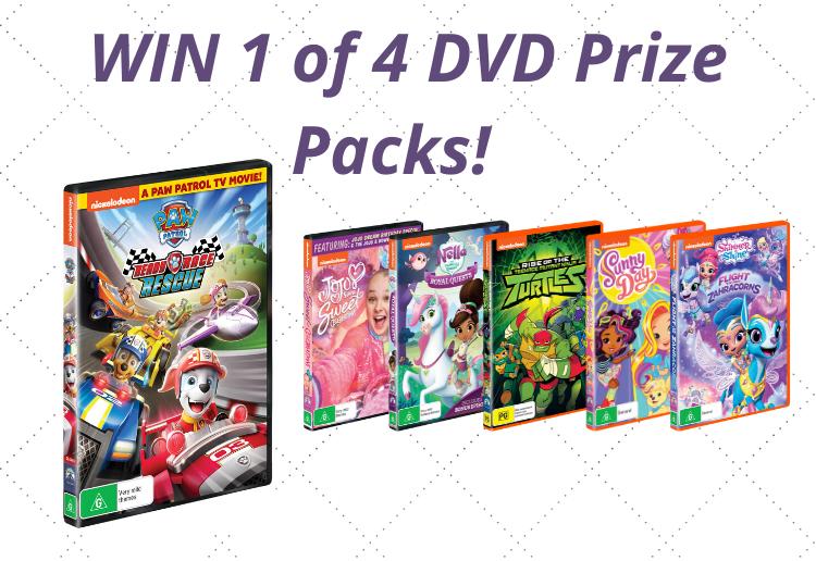 WIN 1 Of 5 Nickelodeon DVD Prize Packs!