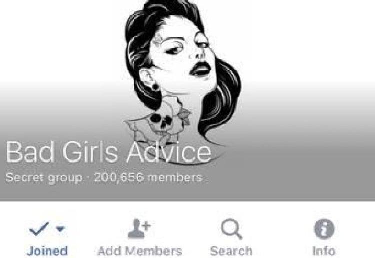 BGA or bad girls advice facebook group