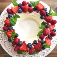 Chocolate Ripple Cake Christmas Wreath