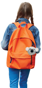 A child wearing a Koala eco bag