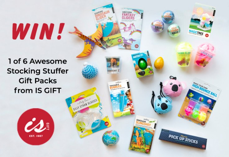 WIN 1 of 6 Awesome Stocking Stuffer Gift Packs From IS GIFT