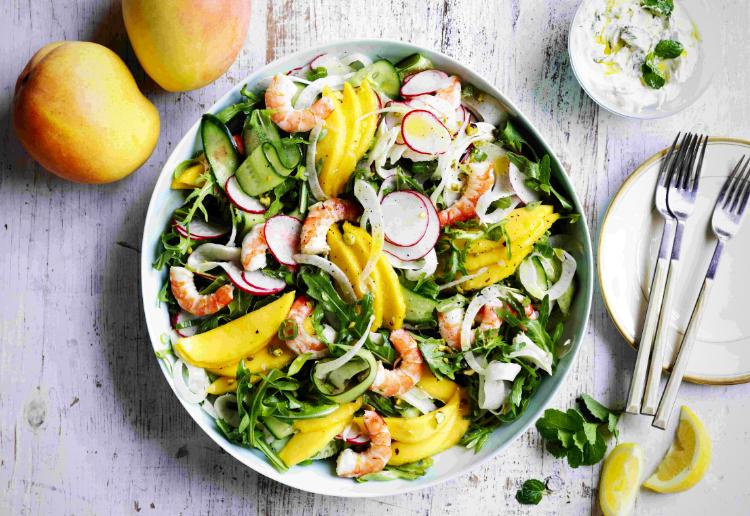 Mango Salad with Prawn and Fennel