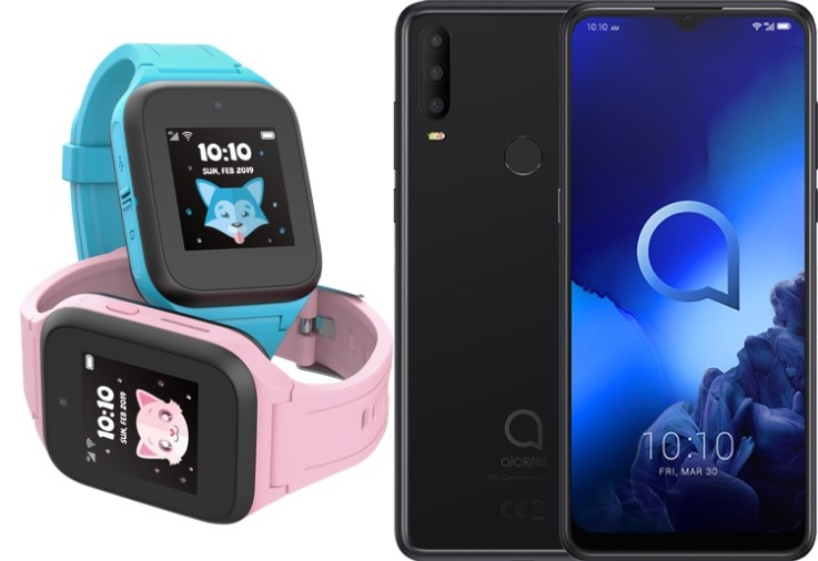 Win Movetime watch and alcatel phone
