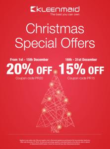 Kleenmaid December promotional offer