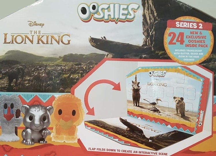Lion king ooshies series 2 calendar front