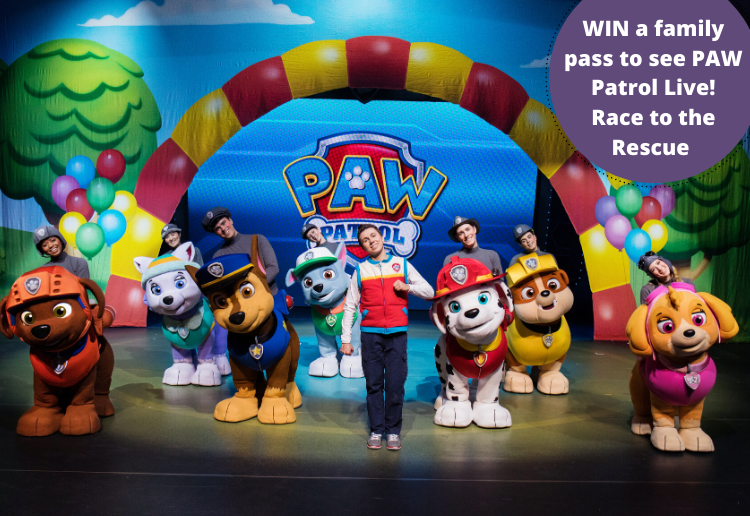 WIN family passes to see PAW Patrol Live! Race to the Rescue Australian Tour 2020
