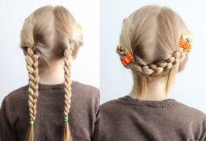 Hairstyles for school princess braids