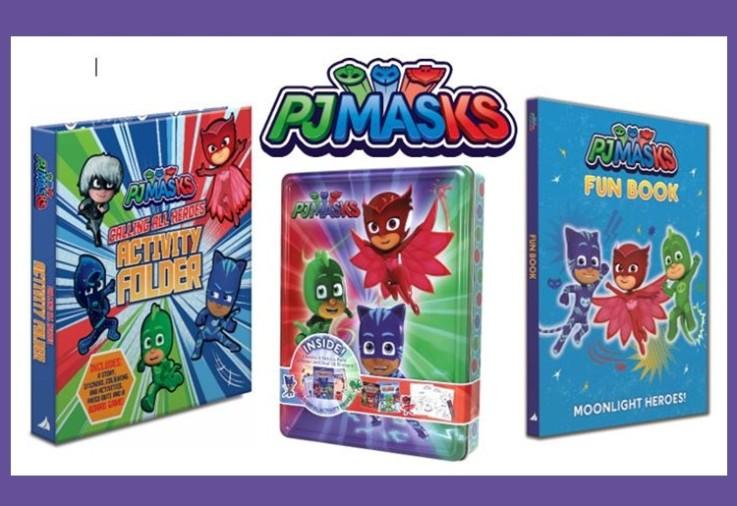 PJ Masks logo and PJ Masks prize products