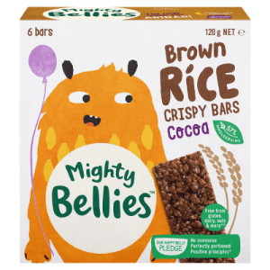 image of Mighty Bellies Brown Rice Crispy Bars in Cocoa