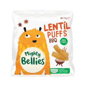 image of Mighty Bellies Lentil Puffs BBQ 10g