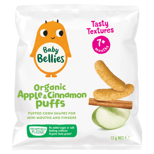 image of Baby Bellies Organic Apple & Cinnamon Puffs