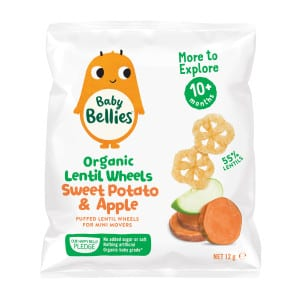 image of Baby Bellies Organic Sweet Potato and Apple Lentil Wheels