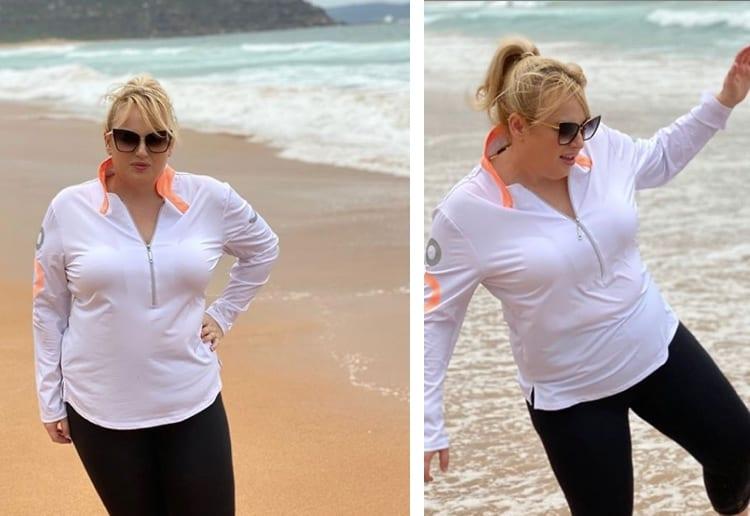 Rebel Wilson weight loss on beach