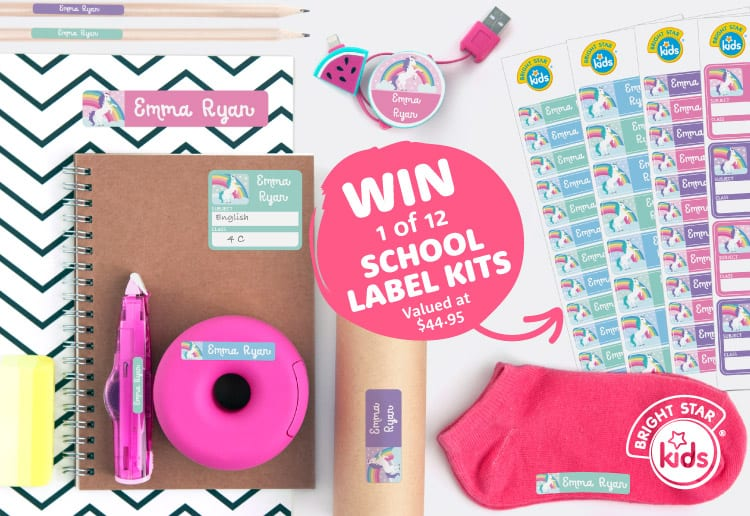 cinta reviewed WIN 1 Of 12 School Labels Kits From Bright Star Kids!