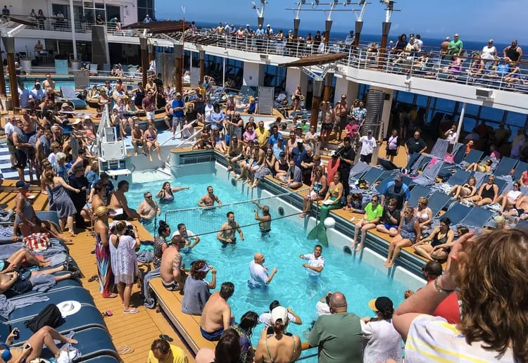 family friendly cruise ship packed