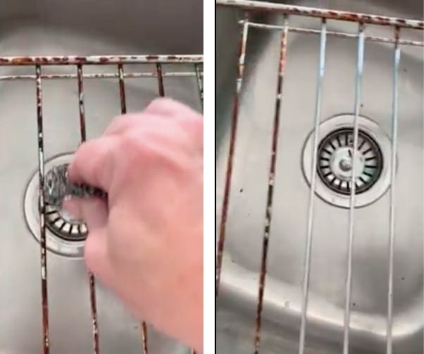 oven cleaning hack - can clean the oven trays too