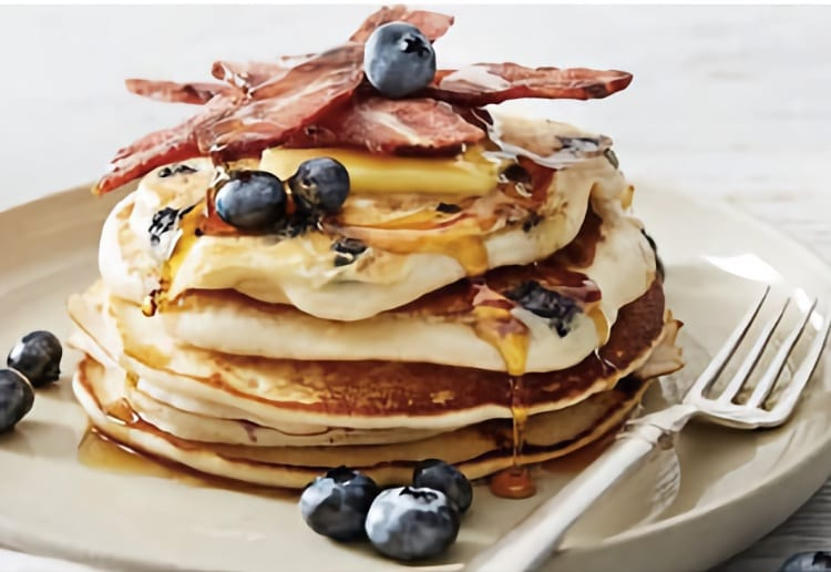 Bacon & Maple Blueberry Pancakes