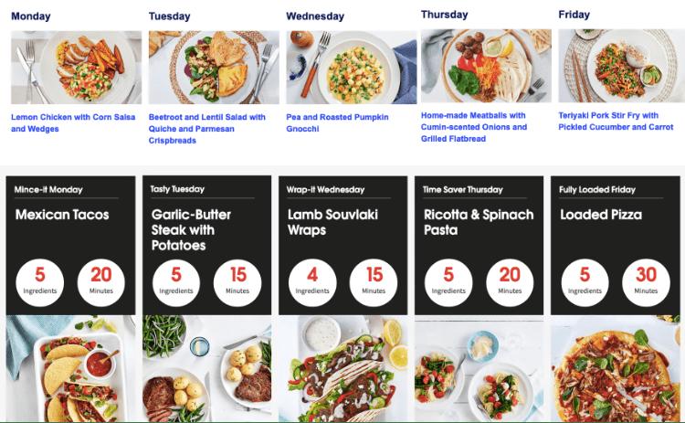 aldi vs coles menu plans