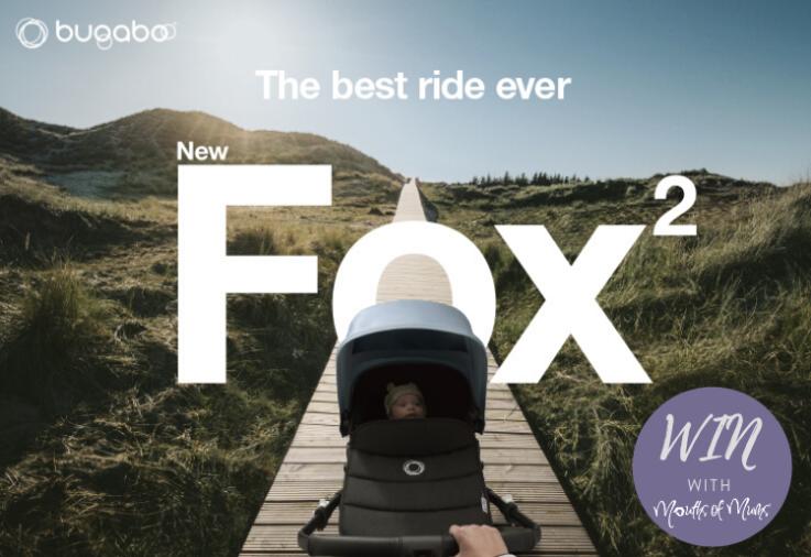 The brand new Bugaboo Fox 2 pram on a walkway