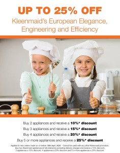 April 2020 Kleenmaid Offer for MoM members