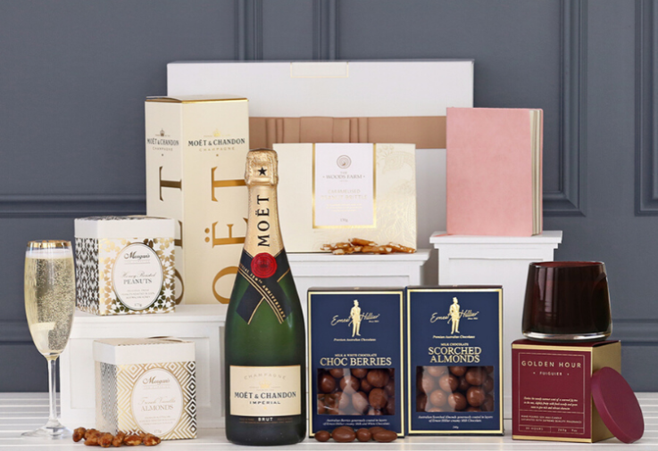 'A Little Luxury with Moët' Hampers From The Hamper Emporium