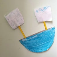 Cardboard boat craft