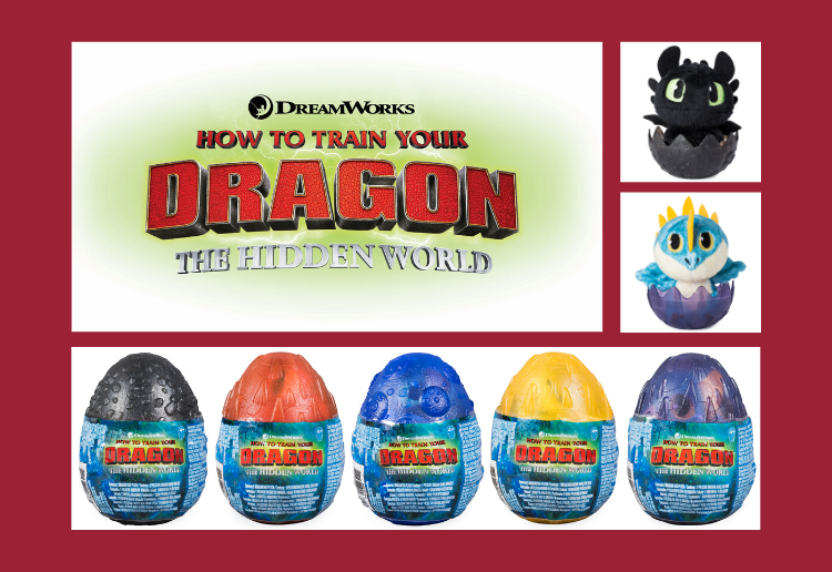 WIN 1 of 3 How to Train Your Dragon Plush Eggs Prize Packs