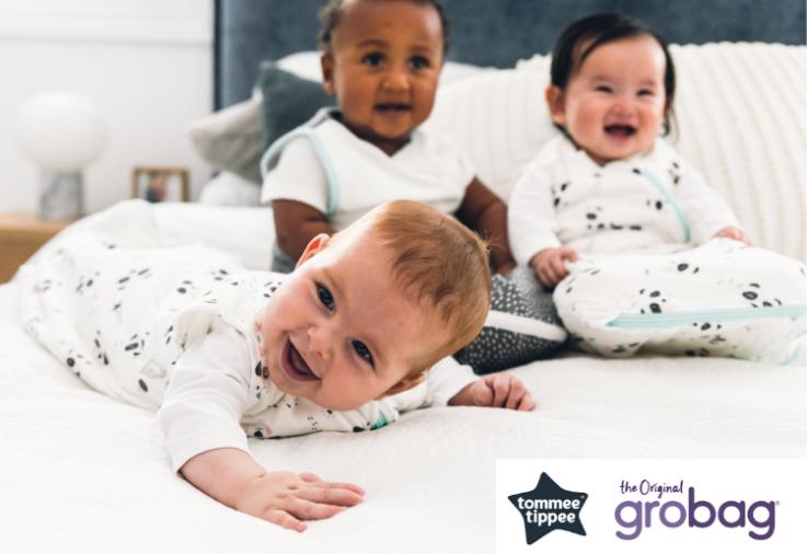Image of babies wearing Tommee Tippee The Original Grobags