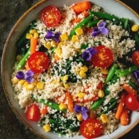 CousCous Salad with Colourful Veg
