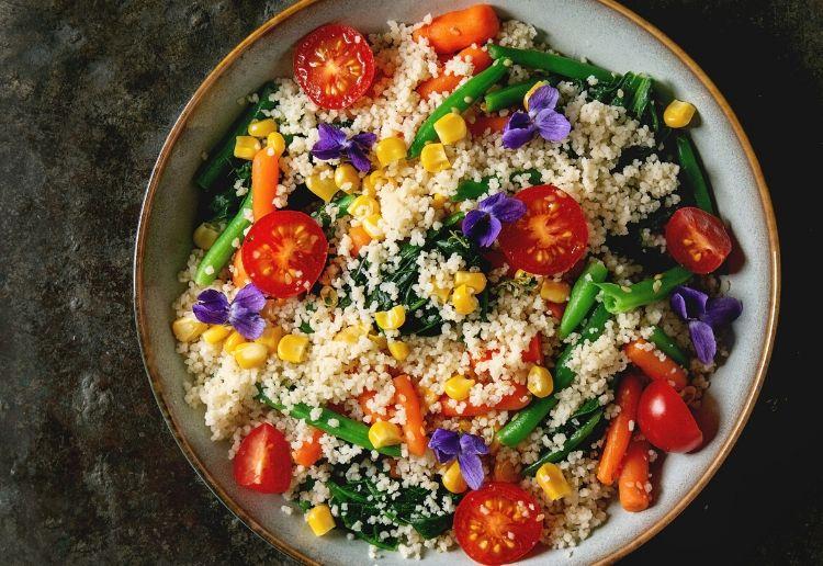 CousCous Salad with Colourful Veg