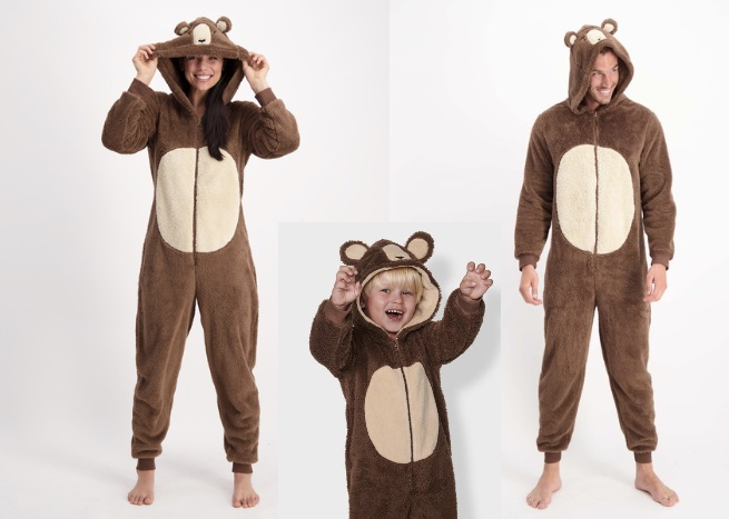 bear onesie matching pjs from best and less