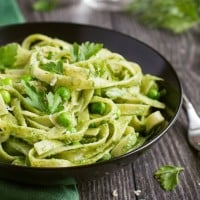Pesto Pasta With Baby Peas